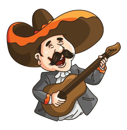 Hombre Mexico Guitarra