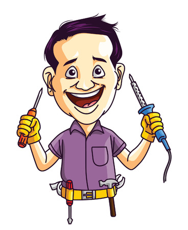 electrical: Technician Man Illustration