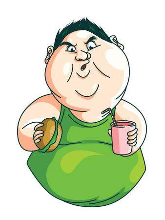 Fat Man comiendo