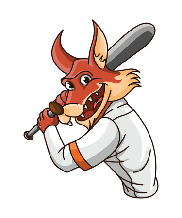 wolf base ball player Vector