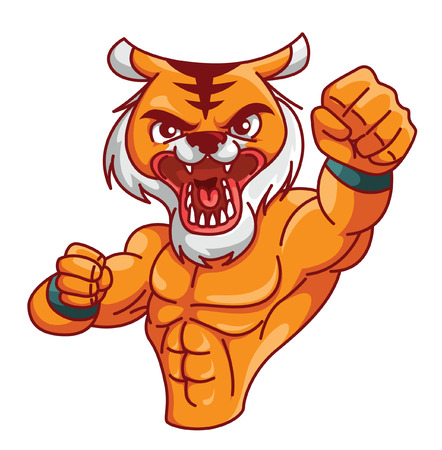 tiger muscle Vector