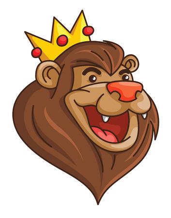 Lion Crown Vector