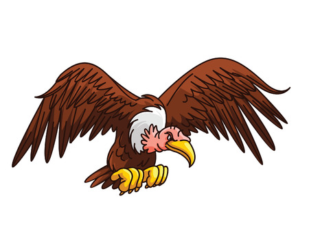 Vulture Cartoon Vector
