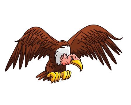 beak vulture: Vulture Cartoon Illustration
