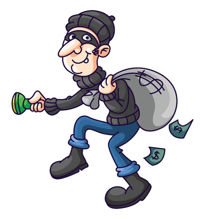 Thief Cartoon Ilustrace