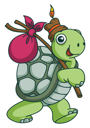 adventurer: Adventure Turtle Funny Cartoon