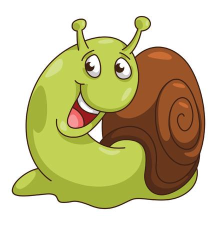 Snail Cartoon Illustration Vector