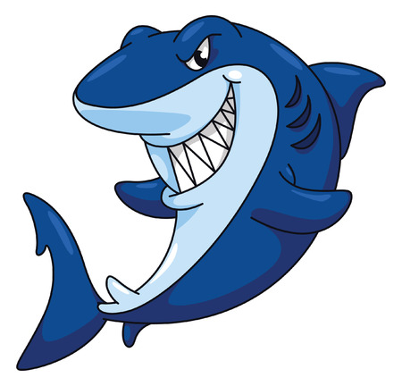 Shark Funny Cartoon