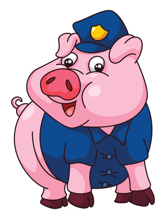 Pig Police Stock Vector - 29460729