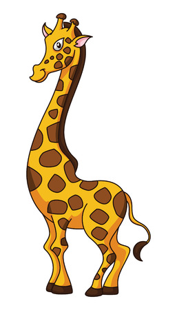 girafe: Girafe Cartoon Funny Illustration Illustration