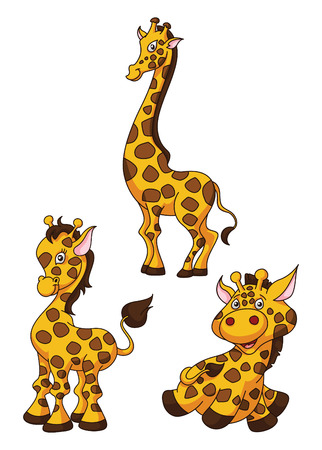 Girafe Cartoon Funny Illustration Illustration