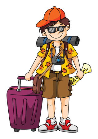 traveller: Tourist Illustration