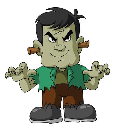 Halloween Green Monster Vector