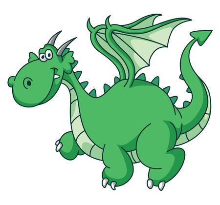 Green Dragon Funny Vector