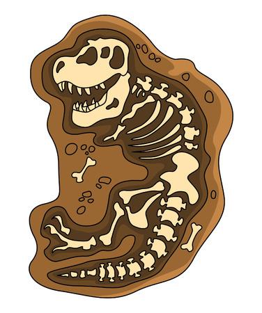 Dinosaurs Fosil Vector