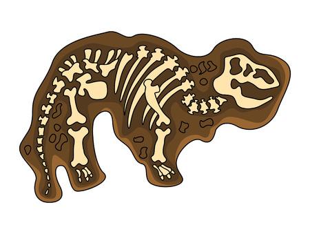 Tyranosaurus Fosil Illustration