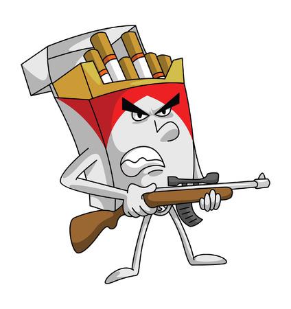 cigarette pack: cigarette killer Illustration
