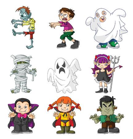 kids costume: kids haloween Illustration