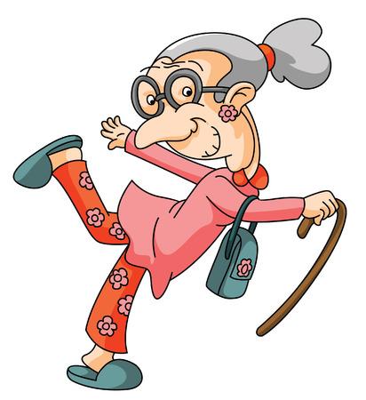 Oude Vrouw Stock Illustratie