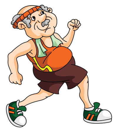 senior exercise: Old Man Running