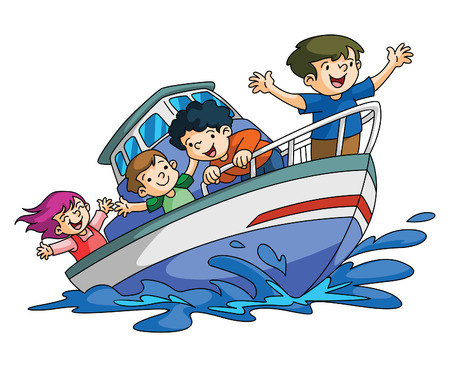 Kids Holiday boat
