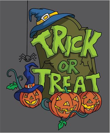 Pumpkin Haloween trick or treat Vector