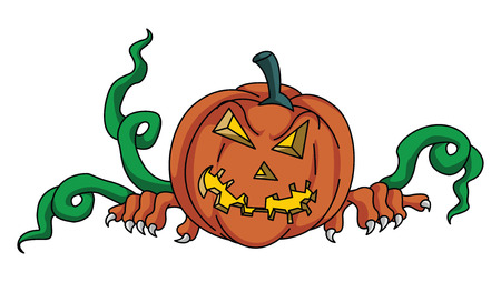 haloween: Pumpkin Haloween Illustration