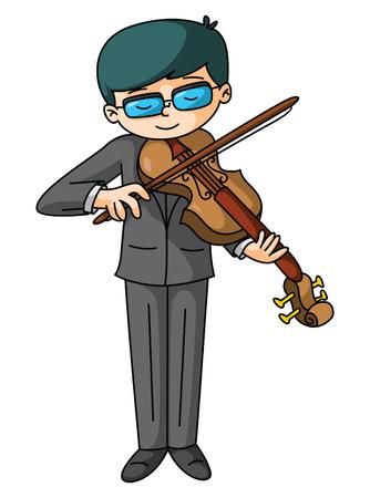 violinista: Reproductor de violín Vectores