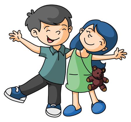 girl happy: Boy and Girl Happy