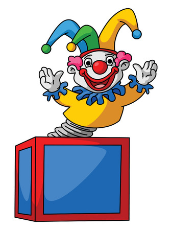 Clown Box Vector