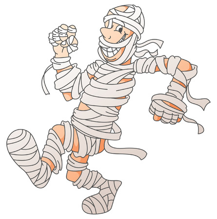 Mummy Screamy Halloween Vector