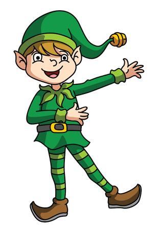 Elf Presenting Vector