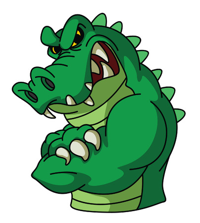 strong: Crocodile Mascot Illustration