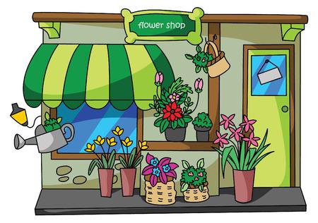 花の店  イラスト・ベクター素材