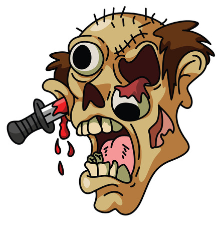 halloween ugly: Zombie Head
