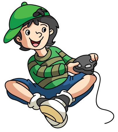 niños jugando videojuegos: Gamer Boy