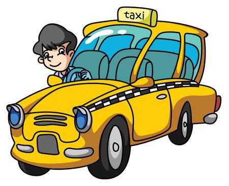 chauffeurs: Chauffeur de taxi Illustration