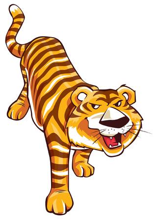 tigre caricatura: Tiger Cartoon