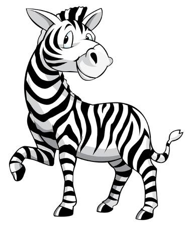 Zebra Cartoon Vectores