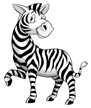 Zebra Cartoon Иллюстрация