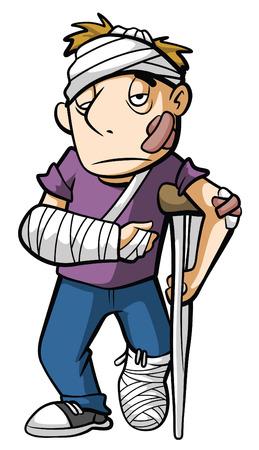 slachtoffer Man Stock Illustratie