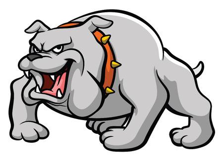 angry bull: Bulldog