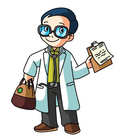 Doctor isolated on white Illustration