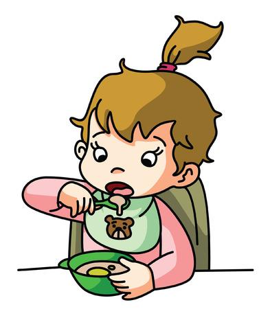 baby girl: Baby girl eating