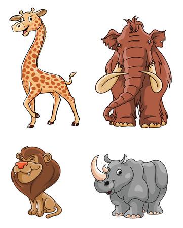 Wild Animals group Stock Illustratie