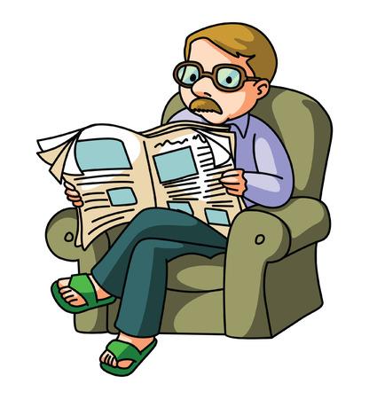 Man Lire les journaux