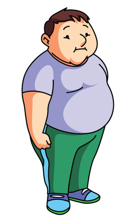 11 805 fat man stock vector illustration and royalty free fat man rh 123rf com Fat Guy Silhouette Fat Guy Eating Cartoon