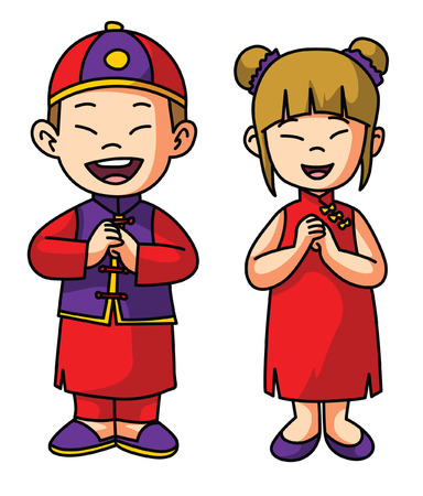 girl in red dress: Chinese Couple