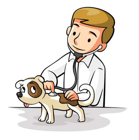 veterinary care: Pet Doctor Illustration
