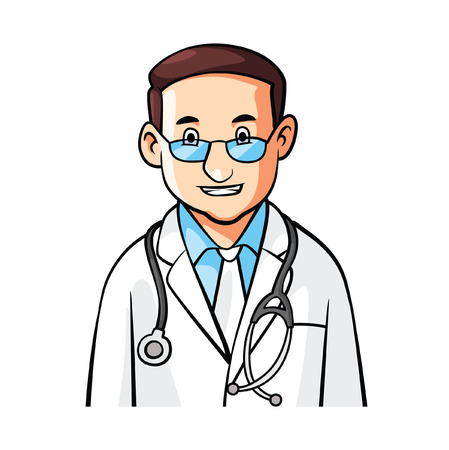 Doctor Cartoon Illustration
